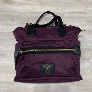 Marc Jacobs Purple Nylon Overnight Tote Bag